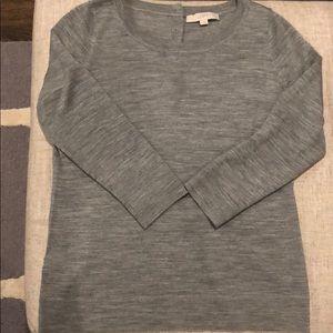 Anne Taylor loft 3/4 sleeve sweater w/ cute button